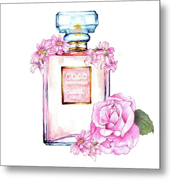 Perfume Florals Metal Print