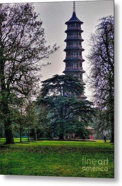 Pergoda Kew Gardens Metal Print