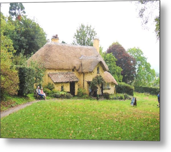 Periwinkle Cottage II Metal Print