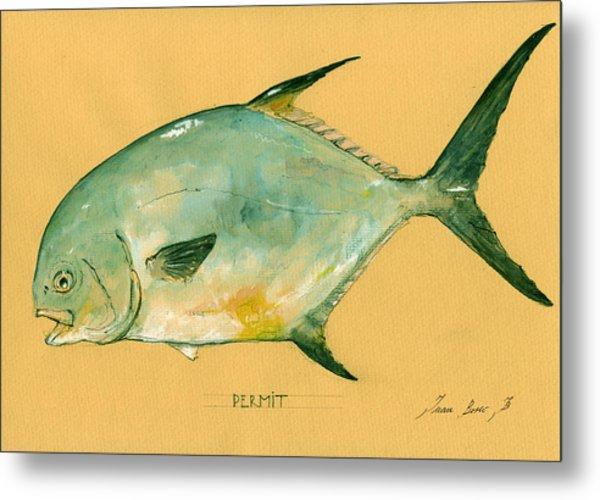 Permit Fish Metal Print