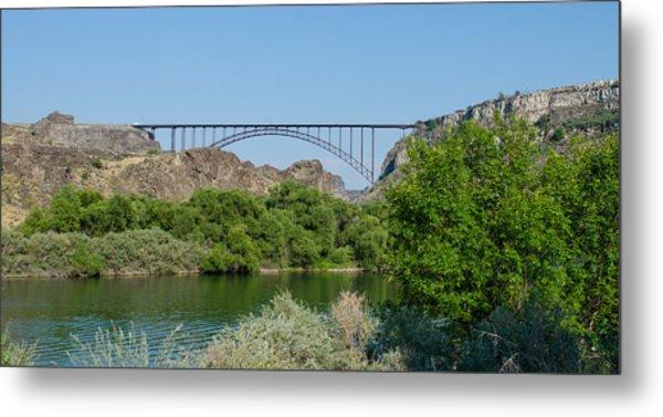 Perrine Bridge At Twin Falls Metal Print