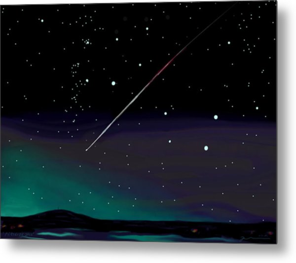 Perseid Meteor Shower  Metal Print