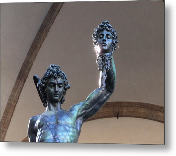Perseus And Medusa Detail Metal Print by Edan Chapman