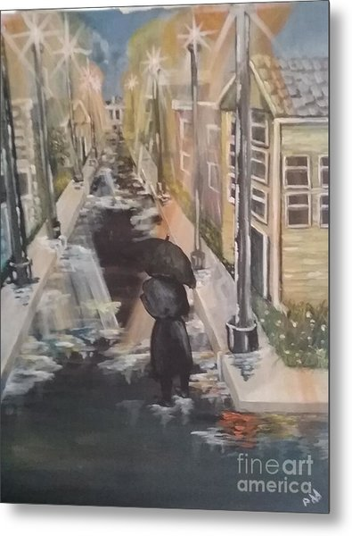 Metal Print featuring the painting Persistence by Saundra Johnson