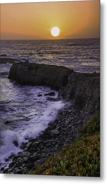 Pescadero Sunset Metal Print