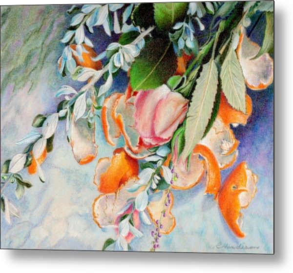 Petals And Peels Metal Print by Robynne Hardison