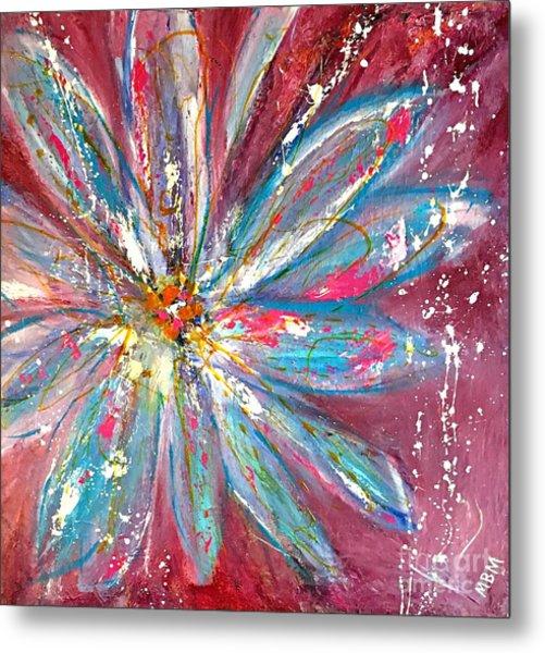 Petals Exploding Metal Print