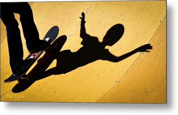 Peter Pan Skate Boarding Metal Print