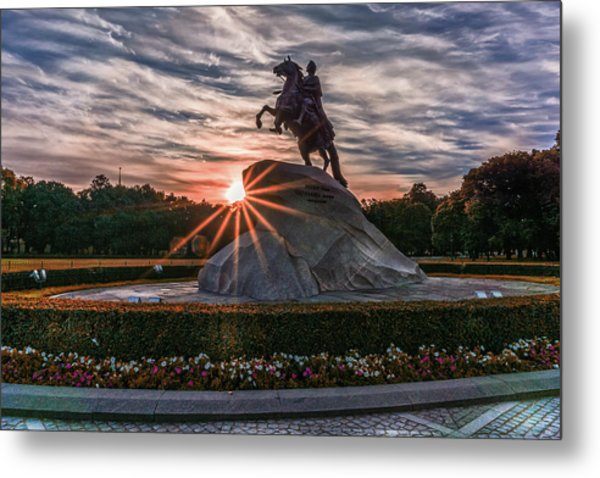 Peter Rides At Dawn Metal Print
