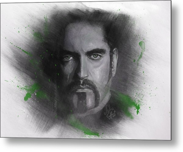Metal Print featuring the drawing Peter Steele, Type O Negative by Julia Art