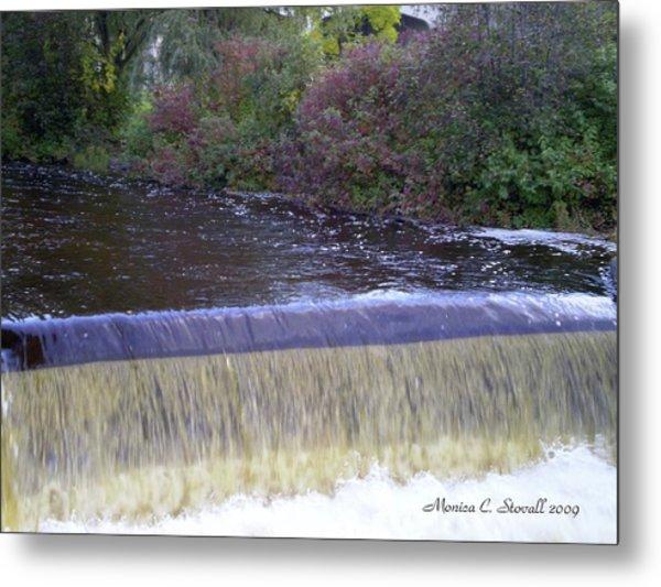 Petoskey Mi Mineral Park Waterfall  Metal Print