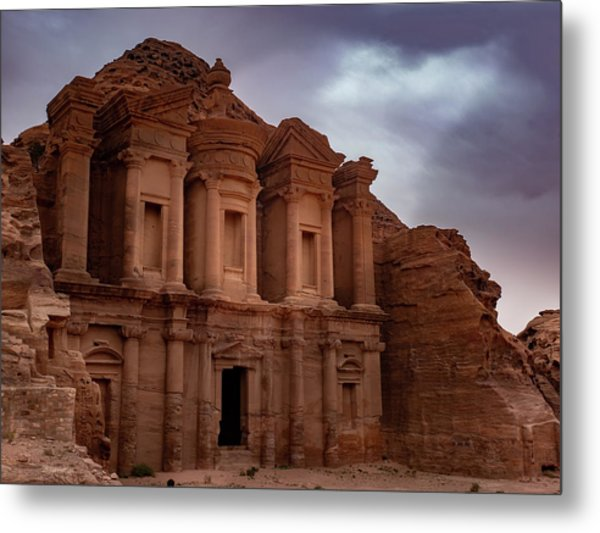 Petra's Monastery Metal Print