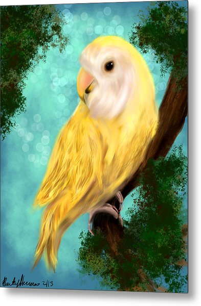 Petrie The Lovebird Metal Print