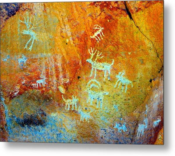 Petroglyph Panel Work 12 Metal Print