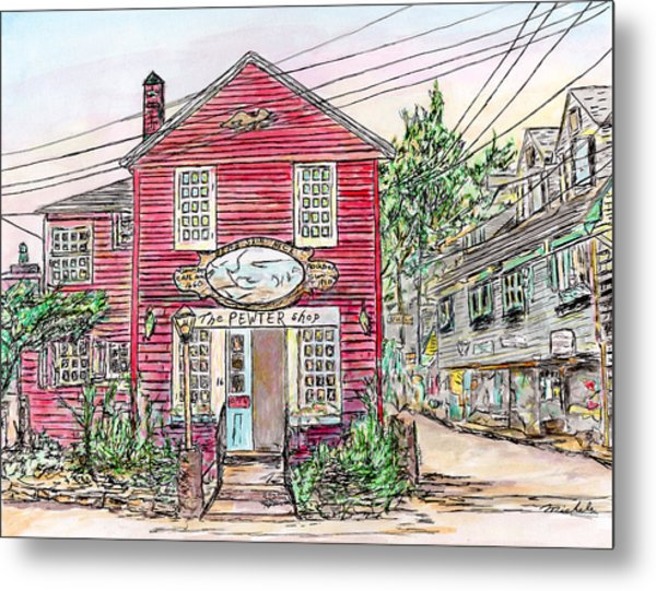 Pewter Shop, Rockport Massachusetts Metal Print