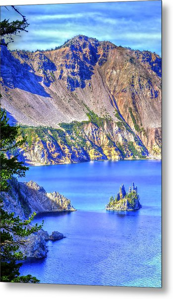 Phantom Ship Island Metal Print