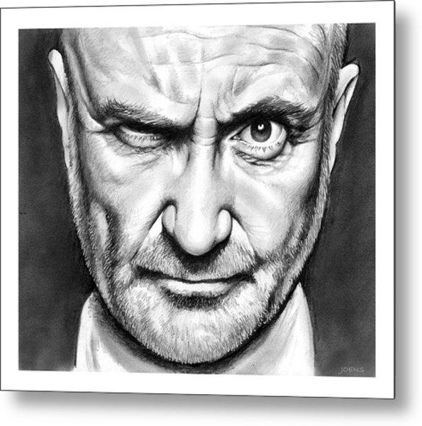 Phil Collins Metal Print
