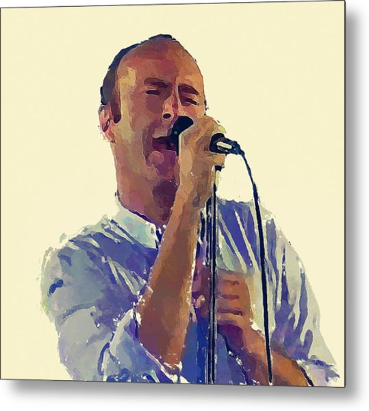 Phil Collins Mama Metal Print