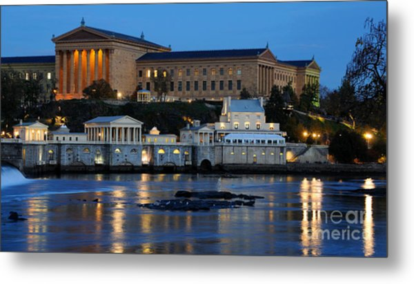 Philadelphia Art Museum And Fairmount Water Works Metal Print