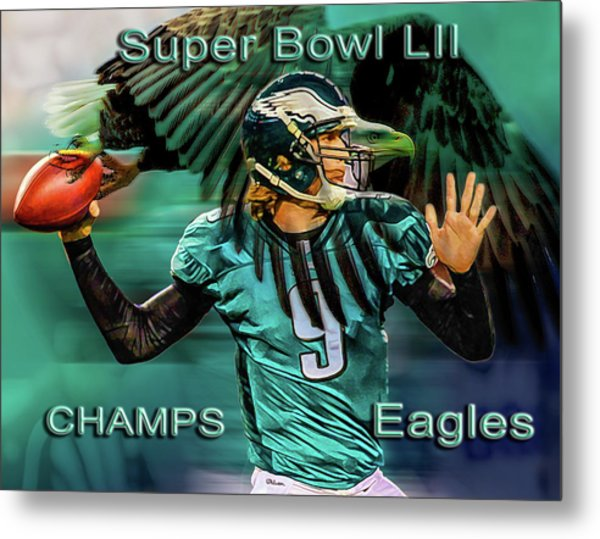 Philadelphia Eagles - Super Bowl Champs Metal Print