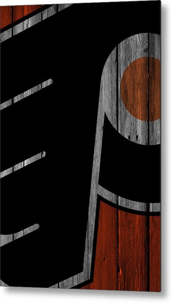 Philadelphia Flyers Wood Fence Metal Print