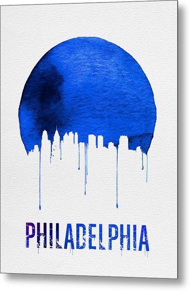 Philadelphia Skyline Blue Metal Print