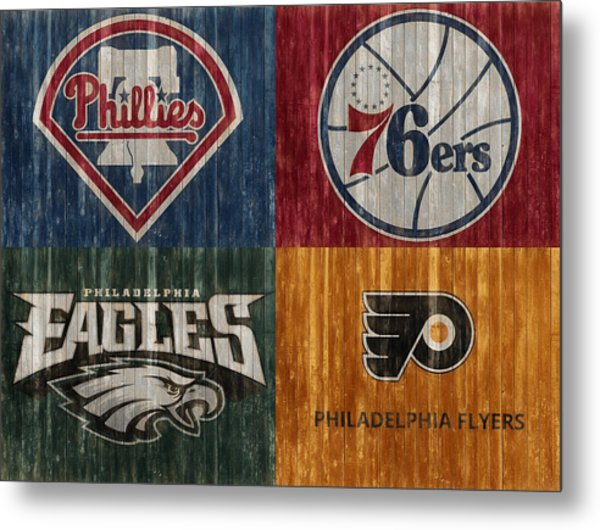 Philadelphia Sports Teams Metal Print