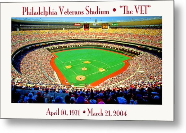 Philadelphia Veterans Stadium The Vet Metal Print