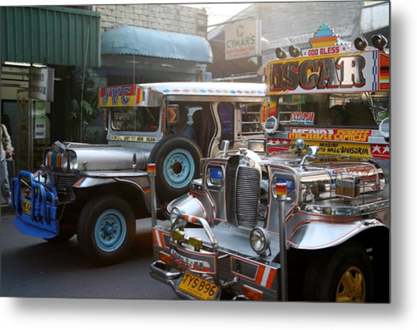 Philippine Jeepneys.  Metal Print