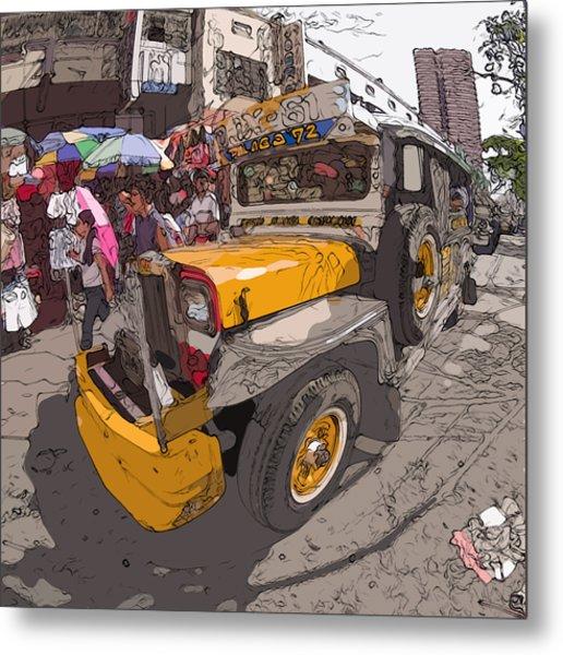 Philippines 1261 Jeepney Metal Print