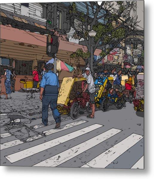 Philippines 906 Crosswalk Metal Print
