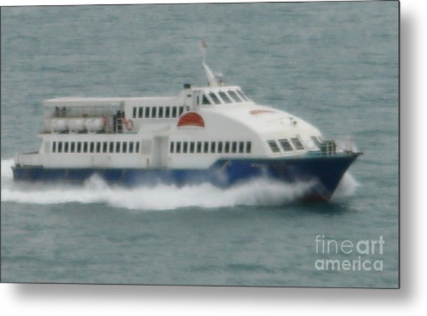 Philippines Island Ferry Metal Print by Mike Holloway