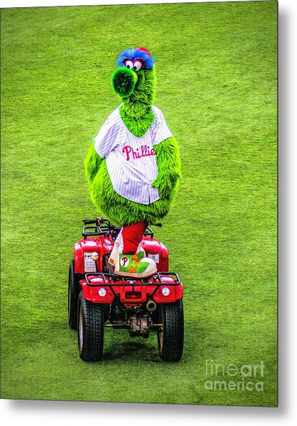 Phillie Phanatic Scooter Metal Print