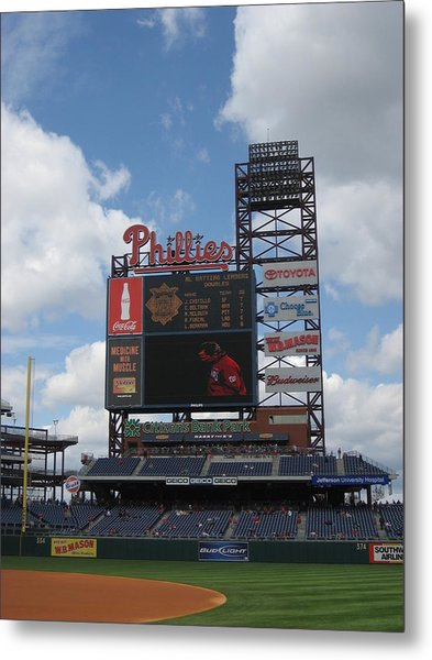 Phillies Metal Print by Jennifer  Sweet