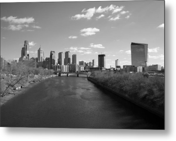 Philly B/w Metal Print