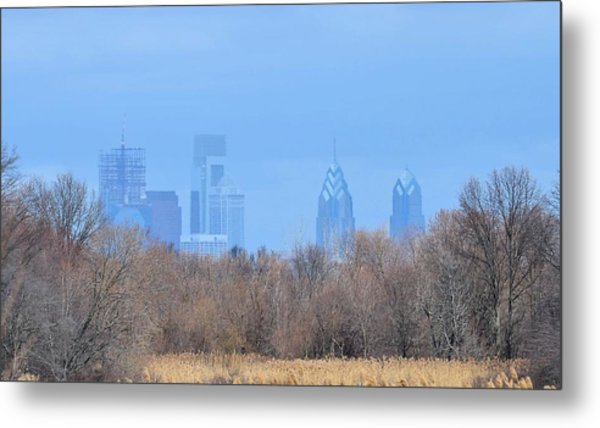 Philly From Afar Metal Print