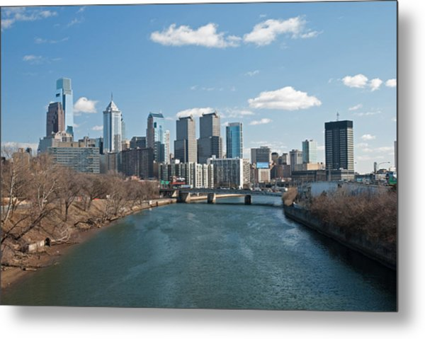 Philly Winter Metal Print