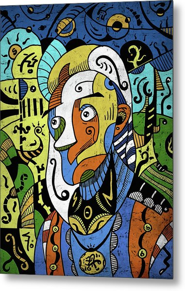 Metal Print featuring the digital art Philosopher by Sotuland Art