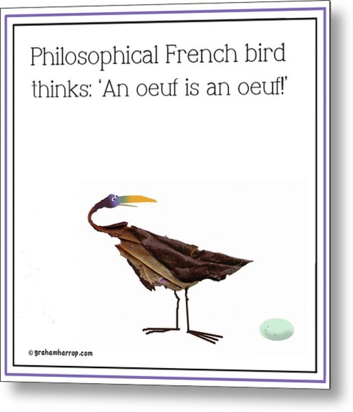 Philosophical Bird Metal Print
