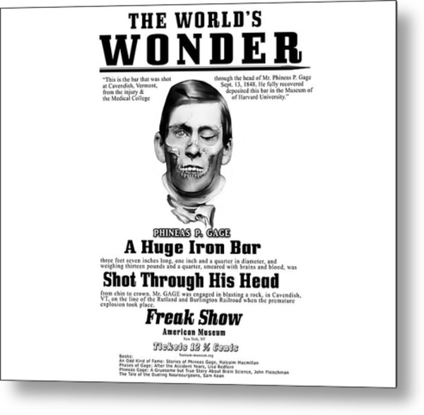 Phineas Gage World's Wonder Metal Print