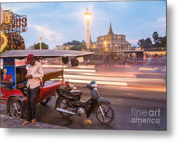Phnom Penh Tuk Tuk Metal Print