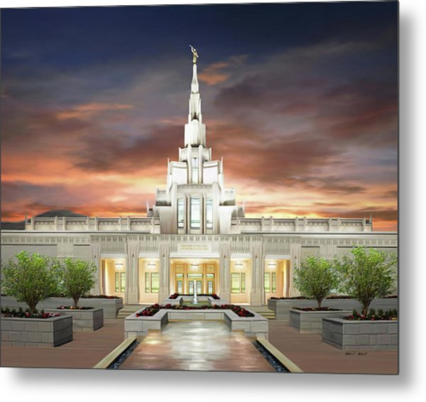 Phoenix Arizona Temple Metal Print by Brent Borup