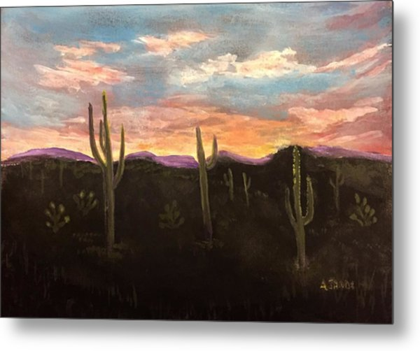 Phoenix Az Sunset Metal Print