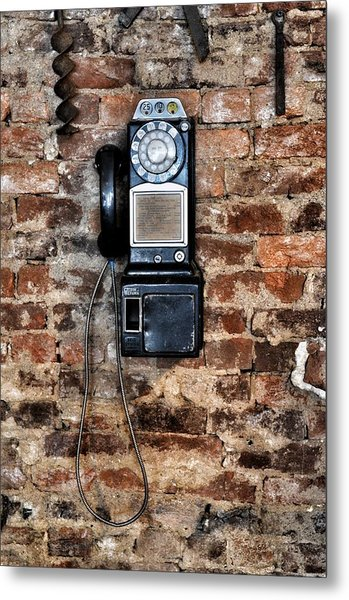 Pay Phone  Metal Print