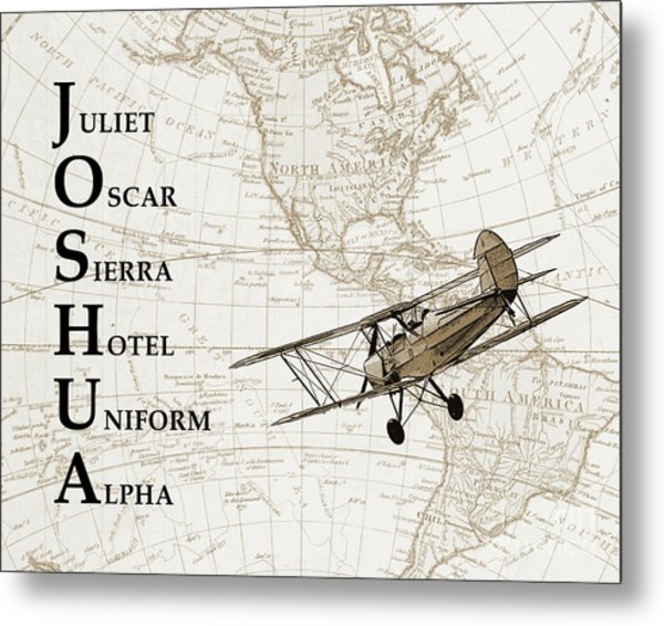 Phonetic Alphabet Custom Name Metal Print