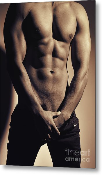 Photograph Of A Sexy Man #9979g Metal Print