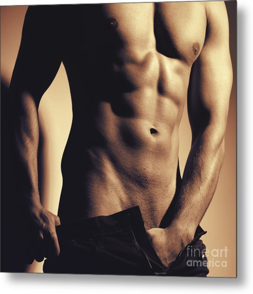 Photograph Of A Sexy Man #9981g Metal Print