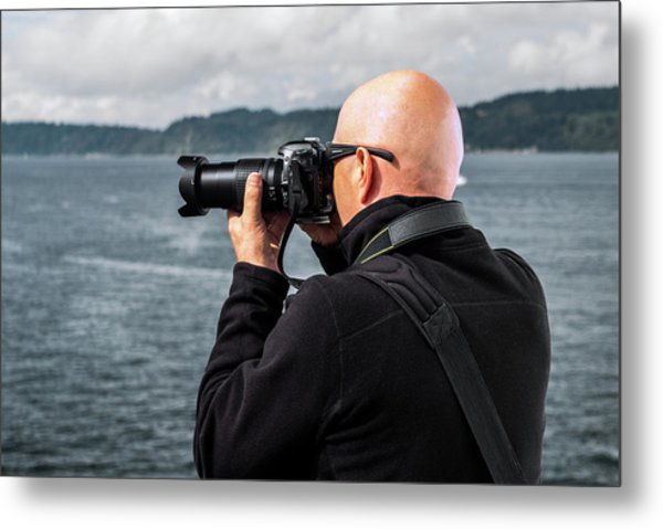Photographer At Work Metal Print