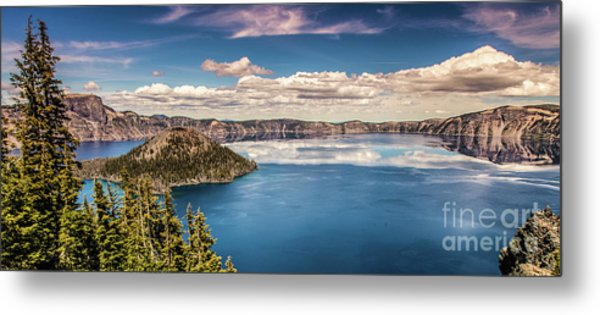 Metal Print featuring the photograph Crater Lake by Jim Adams