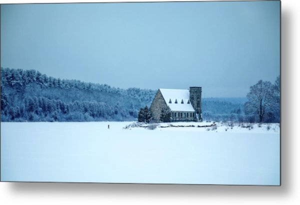 Photographer On Thin Ice Metal Print